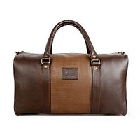 The Clownfish 18 Inch/20 Liters Synthetic Duffle Luggage Bag-Deluxe-(Brown) TCFDB20LBRD-1