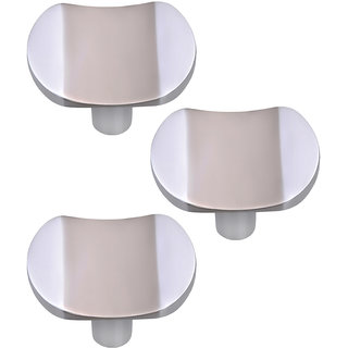 Doyours Cabinet Knob, White Metal - Set of 3