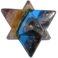 7 Chakra Merkaba Star Large Crystal Sacred Geometry Quartz Reiki Point 8 Healing