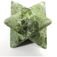 Vesuvianite Merkaba Star Large Crystal Sacred Geometry Reiki Point 8 Healing