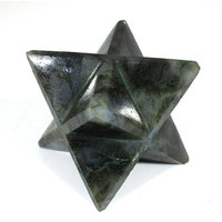 Labradorite Merkaba Star Large Crystal Sacred Geometry Quartz Reiki Point 8 Healing