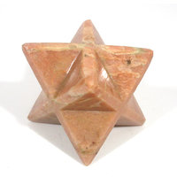 Moonstone Merkaba Star Large Crystal Sacred Geometry Reiki Point 8 Healing