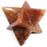 Red Carnelian Merkaba Star Large Crystal Sacred Geometry Reiki Point 8 Healing
