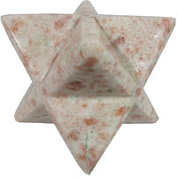 Sunstone Merkaba Star Large Crystal Sacred Geometry Quartz Reiki Point 8 Healing