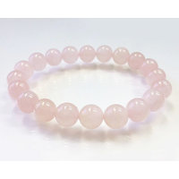 Healing Reiki Crystal Rose Quartz Beads Bracelet