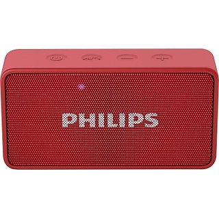 Philips BT64R/94 Portable Bluetooth Mobile/Tablet Speaker(Red, 1 Channel) with 1 year Philips warranty