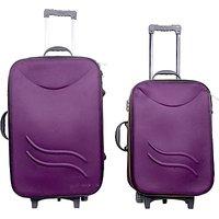 Krisha Bags KC 20+24 inch Expandable Luggage ( purple )