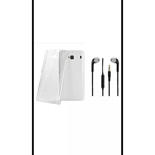 Samsung J7 (2016) Soft Case TPU Transparent Back Cover With 3.5MM jack High Quality Sterio With Mic Volume Control Button Headphone White