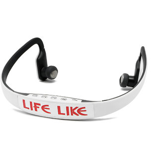 Life Like MRS-BS15 WIRELESS BLUETOOTH NECKBAND HEADSET WITH MIC - WHITE