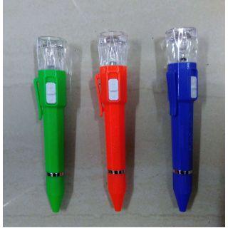 3 QTY Flashlight LED key Light Ball Point Pen