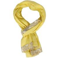 Sofias Designer Pure 100  Cashmere Medium Size ( 70 X 200 Cms ) Shawl With Sequins 4 Side Border Emzsofiascashseq4