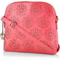 Butterflies Women Pink Sling Bag