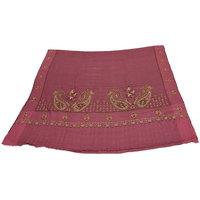 Sofias Exlusive 100 Pure Pashmina Hand Made Hand Wooven  Hand Embroidered Large Shawl (100 Cms X 200 Cms) Peach Emzsspashminash3