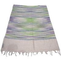 Sofias Stunning Pure 100 Pashmina With Zari Threads Hand Made Medium Shawl (70 Cms X 200 Cms) Offwhite / Mutlicolor Emzsspashminast57