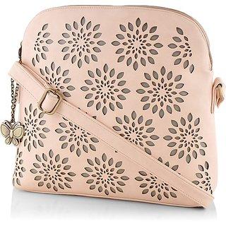 Butterflies Women ( Peach ) Sling Bag