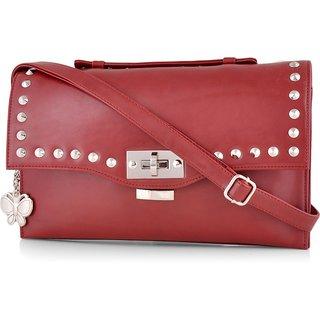 Butterflies Women ( Maroon ) Sling Bag