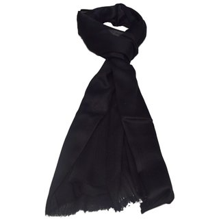 Sofias Exclusive Pure 100  Cashmere Plain Medium Size ( 70 x 200 cms ) Shawl,Color-Black emzsofiascashpl7