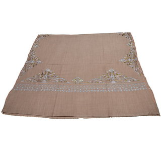 Sofias Exclusive Pure Cashmere Hand Made and Hand Embrodiere Large Shawl (100 cms x 200 cms) Brownish Peach emzsscashmeresh13