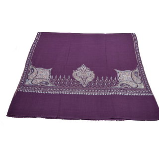 Sofias Exclusive Pure Cashmere Hand Made and Hand Embrodiere Large Shawl (100 cms x 200 cms) Purple emzsscashmeresh29