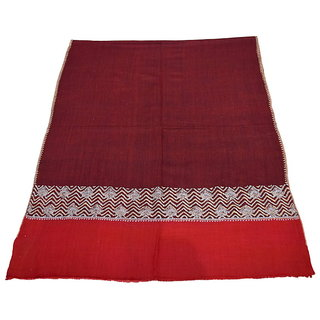 Sofias Exclusive Pure 100 Pashmina Hand Made Medium Shawl (70 cms x 200 cms) Red/Maroon emzsspashminast47