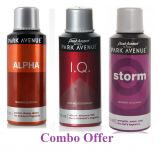 Combo Of Park Avenue Alpha Deo Spray 150 Ml For Men  Park Avenue I.q. Deo Spray 150 Ml For Men  Park Avenue Storm Deo Spray 150 Ml For Men