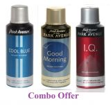 Combo Of Park Avenue Cool Blue Deo Spray 150 Ml For Men  Park Avenue Good Morning Deo Spray 150 Ml For Men  Park Avenue I.q. Deo Spray 150 Ml For Men
