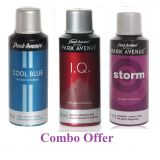 Combo Of Park Avenue Cool Blue Deo Spray 150 Ml For Men  Park Avenue I.q. Deo Spray 150 Ml For Men  Park Avenue Storm Deo Spray 150 Ml For Men