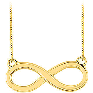 Infinity Pendant Necklace In Yellow Gold 14K