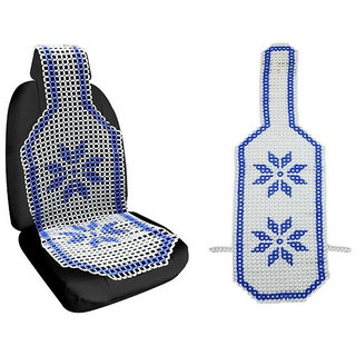 Autosky Blue Marble Accupressure Design Seat Bead (Universal Design) 1 pc