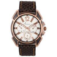 Jack Klein Trendy White-Gold Dial Analog Wrist Watch For Men