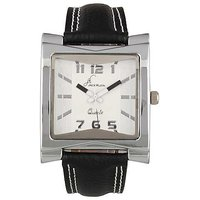Jack Klein Rectengular Dial Black Strap Wrist Watch For Men
