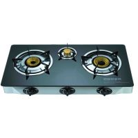 Automatic 3 Burner Gas Stove With Marble Finish