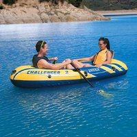 Intex Challenger 2 Boat Inflatable 2 Person boat set