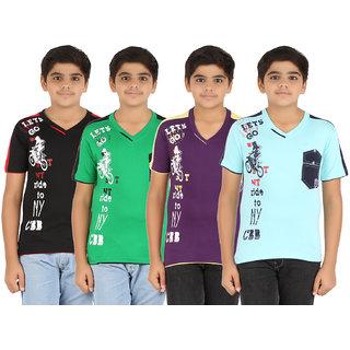 Zippy Boys Multicolor Tshirt Pack of 4