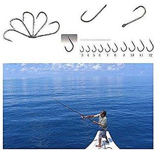 Futaba 50Pcs 10 Size Assorted Fishing Sharpened Hook Tackle Lure Bait