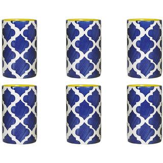 Pen Holder For Home Decor Ceramic Stoneware In Blue Umrao Set Of 6 Handmade By Caffeine
