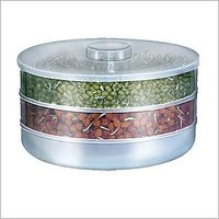 Amiraj Plastic Tranparent Sprout Maker With 3 Compartments