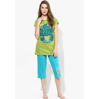 Night Suit Set Capri with T.Shirt