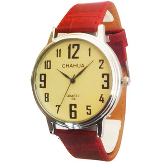 Chahua Formals Analog White Dial Watch - 2001177