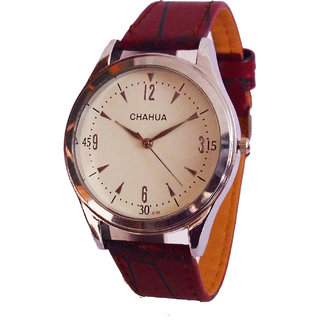 Chahua Formals Analog White Dial Watch - 2001182