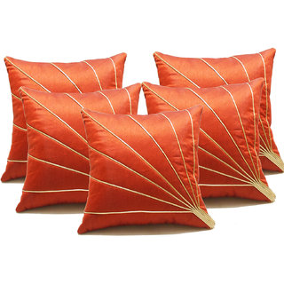 Blooms Ray Cushion Cover Rust 40X40 Cms (5 Pcs Set)