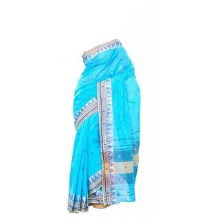 Cotton Handloom Sky Blue Color Saree