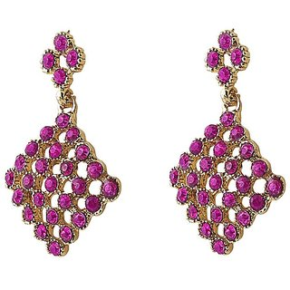 Biyu Fashionable Gold Plated Cz Earring Set 1306713