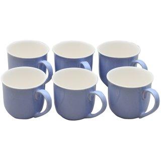 Potters Story Blue Ceramic Tea Mug Set Of 6 For Parents (170 Ml  7 Cm)-Lc2005