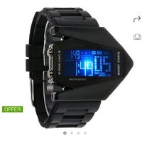 TAGER New Fashion Black Dial Sports Digital Watch-For Boys, Men, Girls, Couple