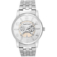Arzent Fiarti Iconic Series Stylish Multi-Function Chronograph Look Analog Silver Color Dial Watch For Mens AF1023