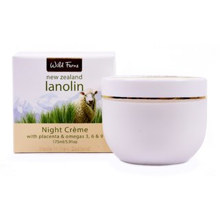 LANOLIN NIGHT CREAM WITH PLACENTA  OMAGAS 175 ML