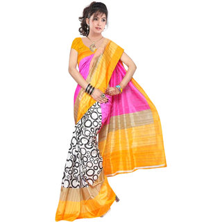 Ethnicbasket Multi Color Bhagalpuri Printed Saree