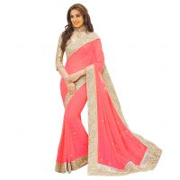 leeps New Attractive And Charming Georgette Saree with Blouse ( Color Available)