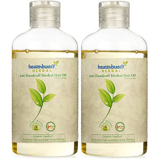 Healthbuddy Herbal Anti Dandruff Hair Oil 2Packs Of 200 Ml Each